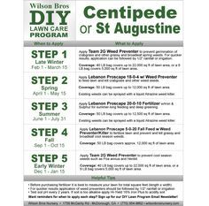 DIY Lawn Programs - Schedule for Centipede or St. Augustine Grass | Wilson Bros Nursery - Gardenality