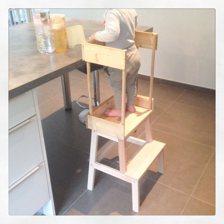 DIY: secure a step to make a Montesso learning tower …