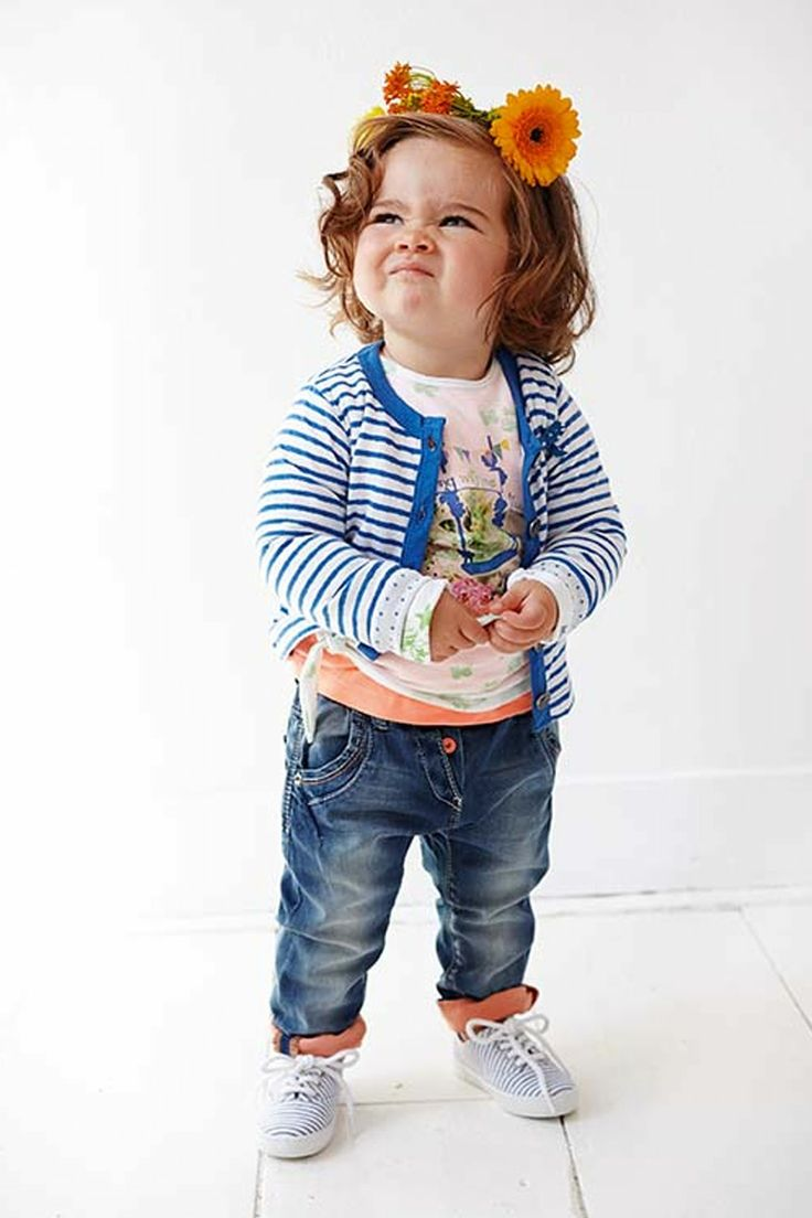 Babykleding Schattige Look | Meisjes Shirt van Babyface Zomer 2014 | Love the face expression | www.kienk.nl