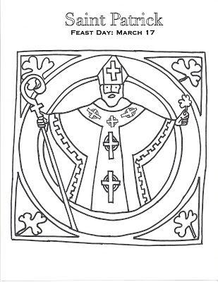 patron saint coloring pages - photo#34