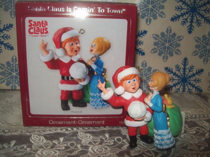 CARLTON SANTA CLAUS IS COMING TO TOWN 2009 CHRISTMAS MUSICAL ORNAMENTS JESSICA #Ornaments