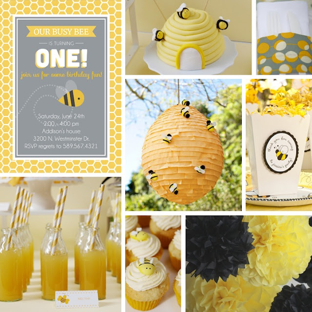 Grey Square Designs Birthday Party Ideas Bee PartySweet IdeasBusy