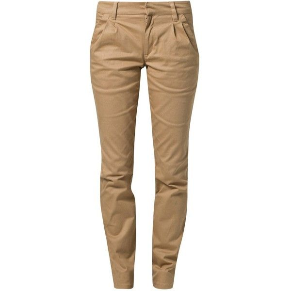 People Tree KAY Chinos (3 035 UAH) ❤ liked on Polyvore featuring pants, jeans, beige, pantalones, bottoms, chinos, women's trousers, brown pants, chinos pants y people tree