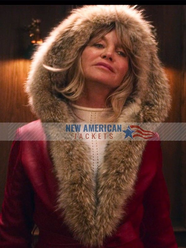 Christmas Chronicles.The Christmas Chronicles Goldie Hawn Shearling Coat
