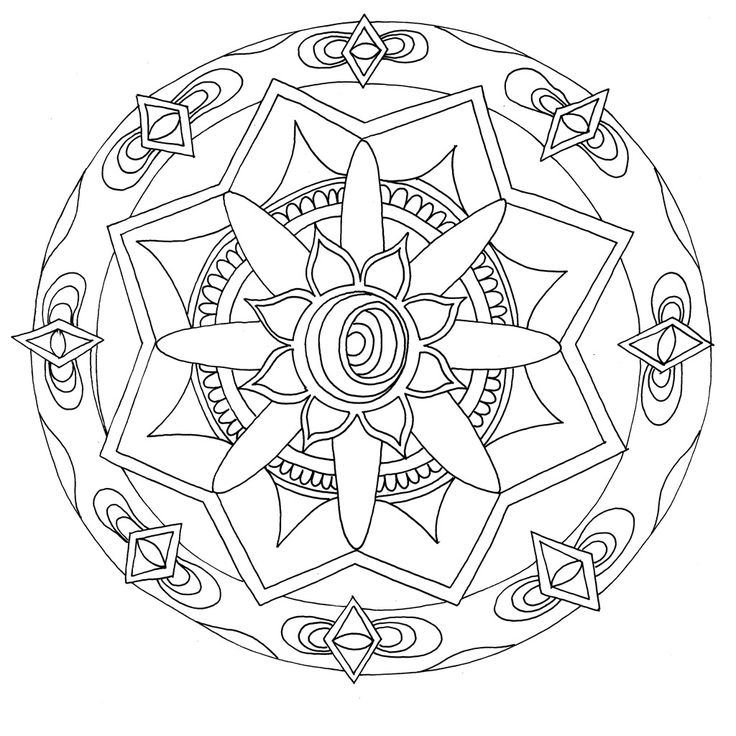 A Mandala I Drew For The Stoners Coloring Book So Soothing