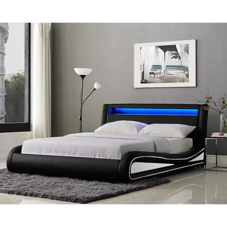 17 meilleures id es propos de lit 140x190 pas cher sur. Black Bedroom Furniture Sets. Home Design Ideas