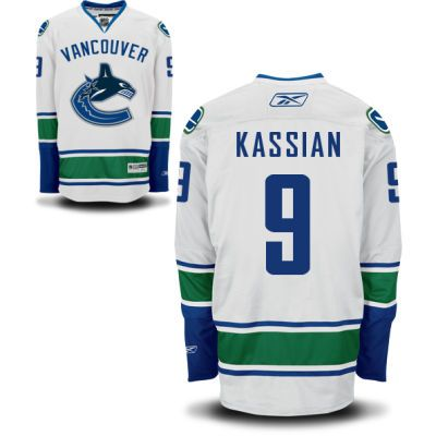 Vancouver Canucks 9 Zack Kassian Road Jersey - White