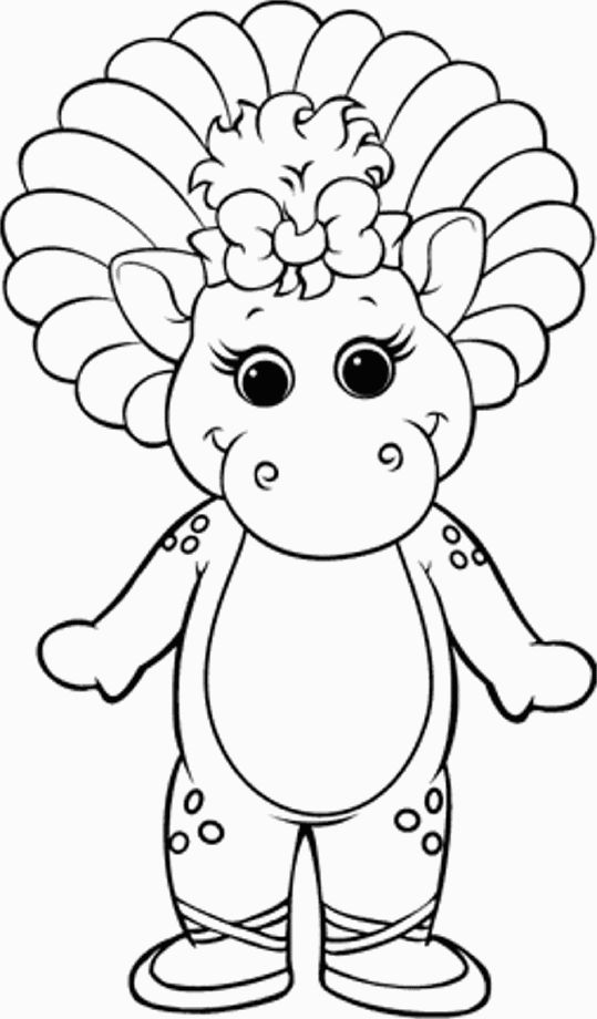 barney smiling happily coloring pages for kids printable barney coloring pages for kids - Barney Friends Coloring Pages