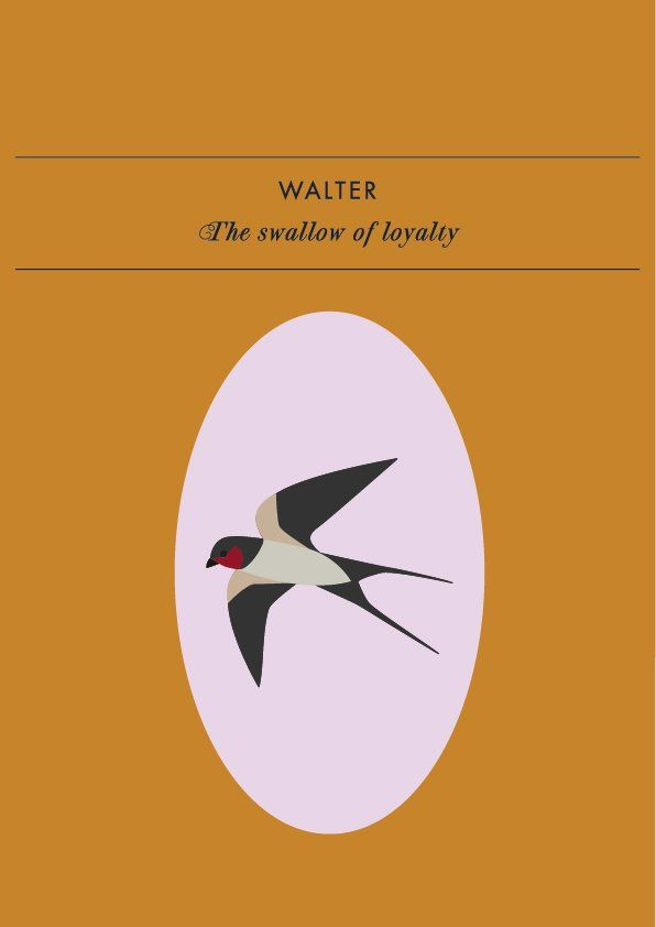 WALTER THE SWALLOW OF LOYALTY Haters are gonna hate so show your friend you've got their back. Walter the swallow is the spirit animal of good old, old-school loyalty. Remind your loved one...