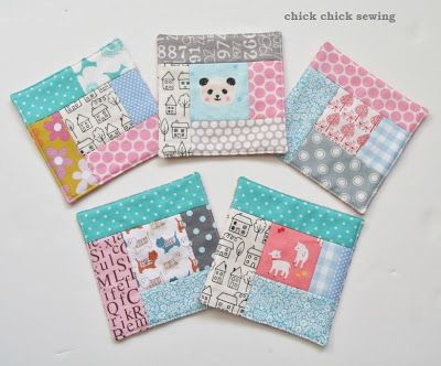 Patchwork coasters for gifts パッチワークのコースター作り