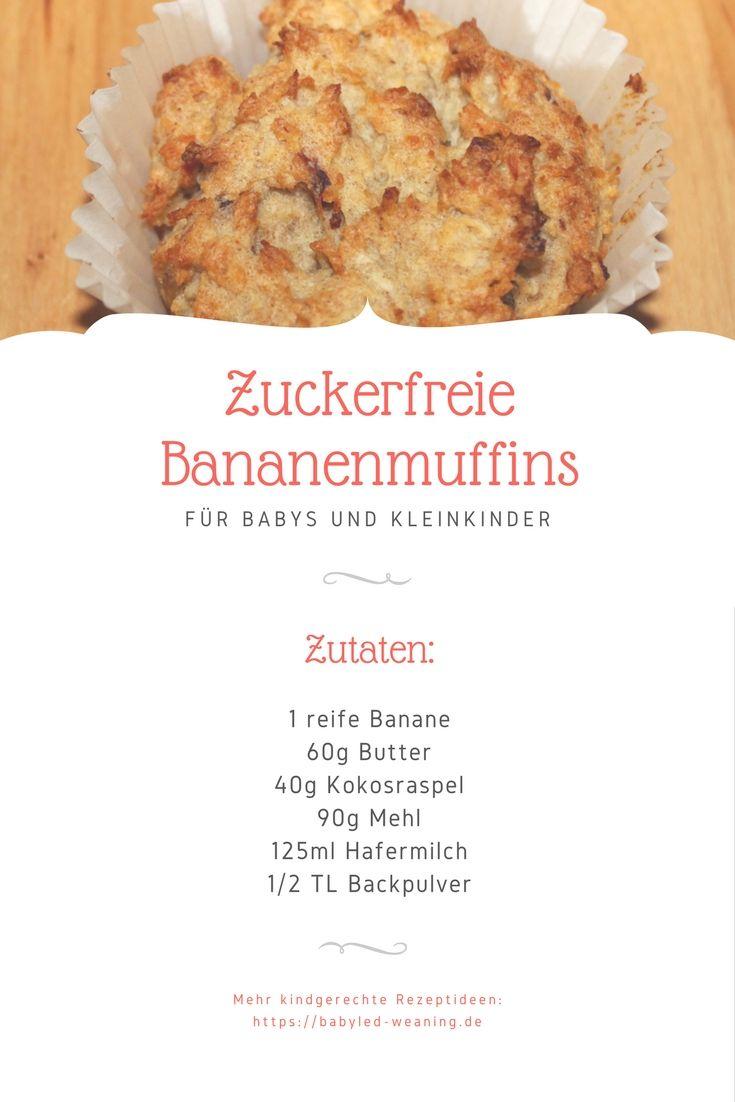 BLW-Rezept: Bananen Muffins ohne Zucker ab 6 Monaten