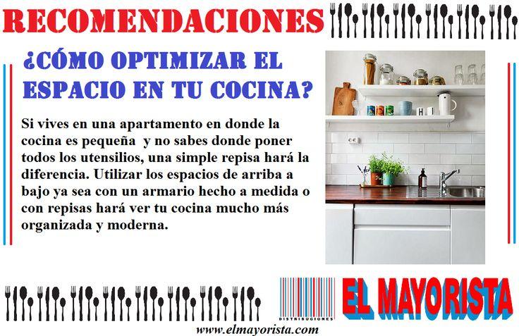 Optimiza los espacios de tu cocina para que esta se vea más organizada y moderna. #elmayorista #Jueves www.elmayorista.com