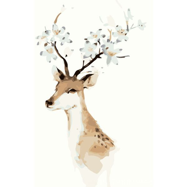 Modern Simple DIY Hand Panting DIY Oil Painting Deer Design 40*50 ... ($19) ❤ liked on Polyvore featuring home, home decor, wall art, christmas, decor, art, backgrounds, image, text and saying