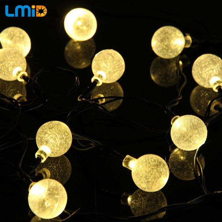 Christmas decor 4949 pinterest lmid solar lamps crystal ball waterproof colorful fairy outdoor solar light garden christmas party decoration string mozeypictures Choice Image