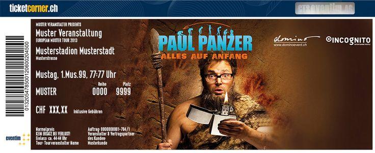 """Paul Panzer mit 2 Shows in Zürich.  Mit Paul Panzer zurück zum Ursprung des Lebens! In seinem neuen Live-Programm """"Alles auf Anfang"""" macht sich Deutschlands verrücktester Komiker auf die Suche nach dem wahren Sinn des Lebens. Tickets für Zürich bei Ticketcorner: http://www.ticketcorner.ch/paul-panzer"""