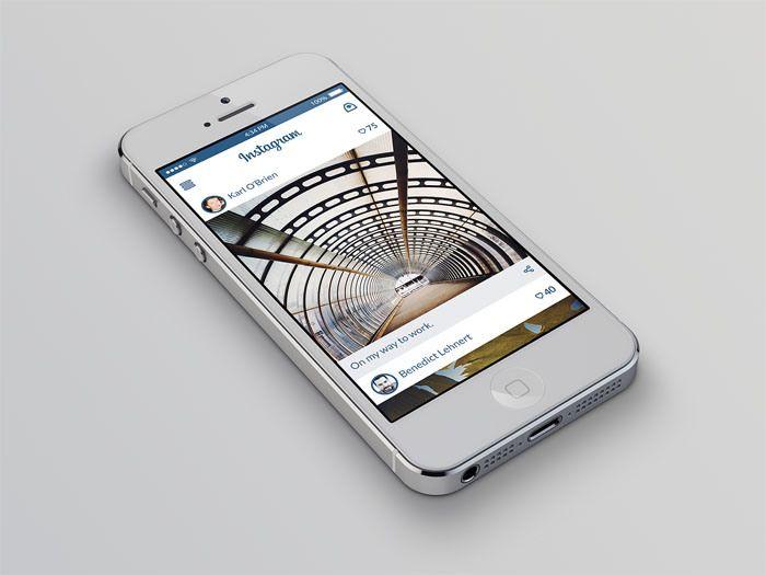 Instagram Redesign Concept PSD | Freebiesjedi