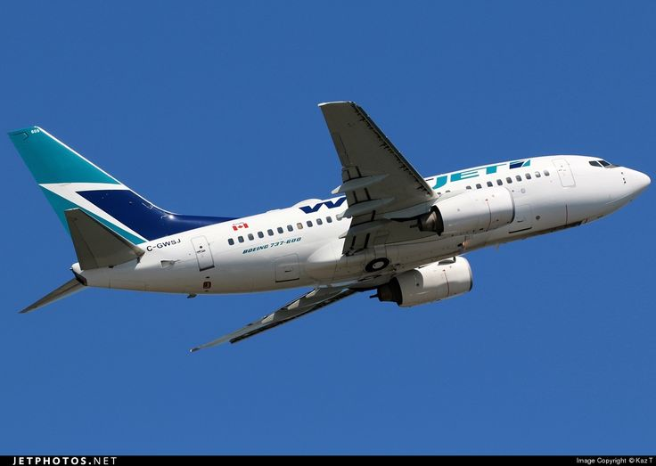 High quality photo of C-GWSJ (CN: 34621) WestJet Airlines Boeing 737-6CT