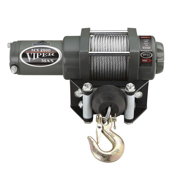 2500lb Viper Max Winch & Mount Steel Cable 2000-2003 Honda Rancher 350 400