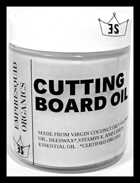 Organic Cutting Board Oil  Mineral Oil Free  by EmpireSquid, $16.00