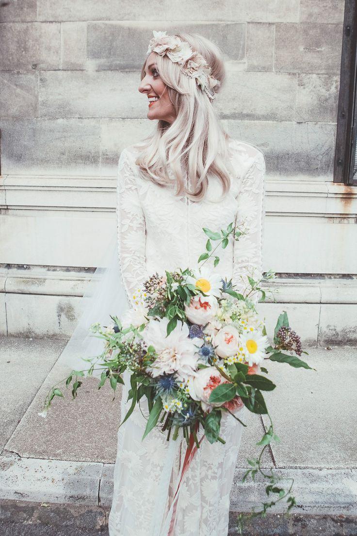 A 70′s Bohemian Inspired Bride and her Relaxed London Pub Wedding | Rue de Seine Chloe Dress | Love My Dress® UK Wedding Blog
