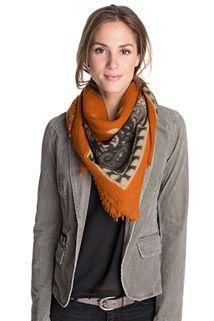 bedrukte vierkante sjaal