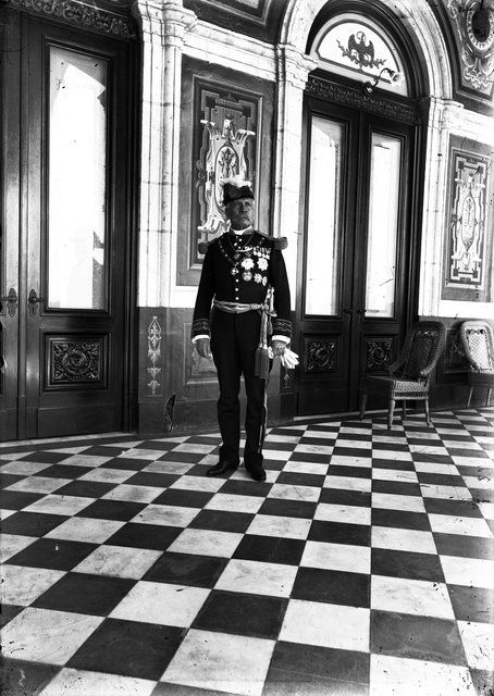 Porfirio Díaz en el Castillo de Chapultepec, enero de 1900. Fotógrafo no identificado. Fondo Archivo Casasola