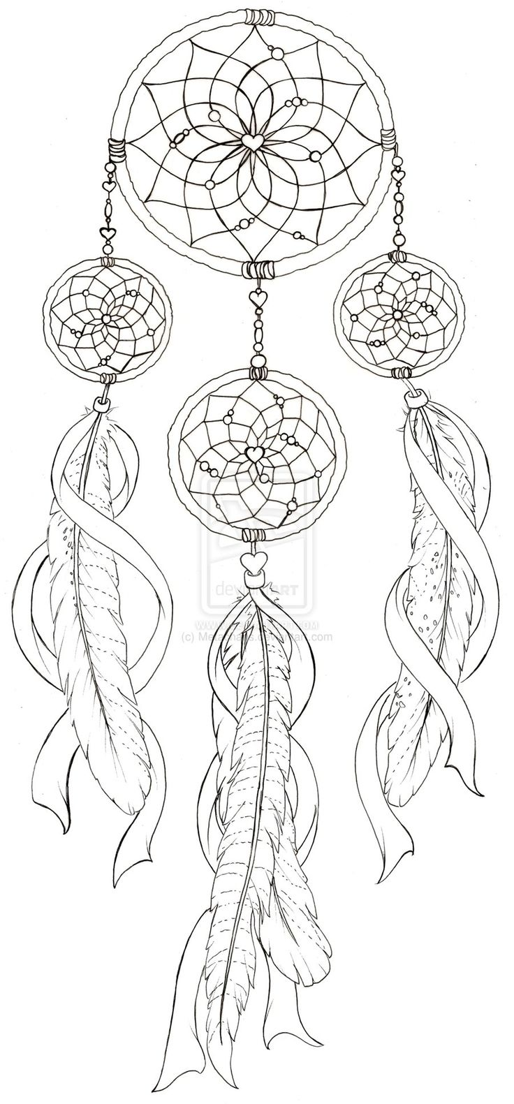 Coloring pages dream catchers - Dream Catcher With Pheasant Feather Tattoo By Metacharis On Deviantart