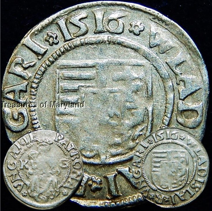 EXCELLENT! 1516 MARY HOLDING BABY JESUS HUNGARIAN DENAR sku #DN1