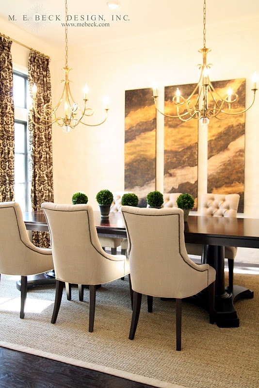 Modern Elegance Is Abound In This Lovely Dining Room Intriguing Art Combines Perfectly With Patterned