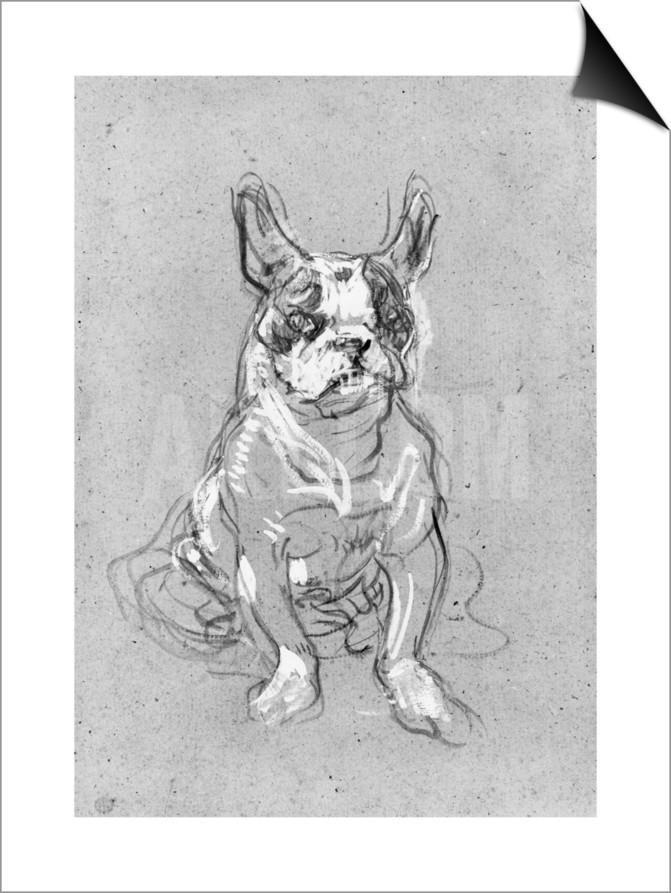 Bouboule', the Bulldog of Madame Palmyre at La Souris, 1897 SwitchArt™ Print by Henri de Toulouse-Lautrec at Art.com