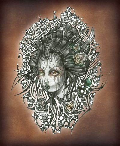 Geisha Art; Virus by Tim Shumate: Tim Shumate, Shumate Art, Art Prints, Tim S Artwork, Beautiful Artwork, Products