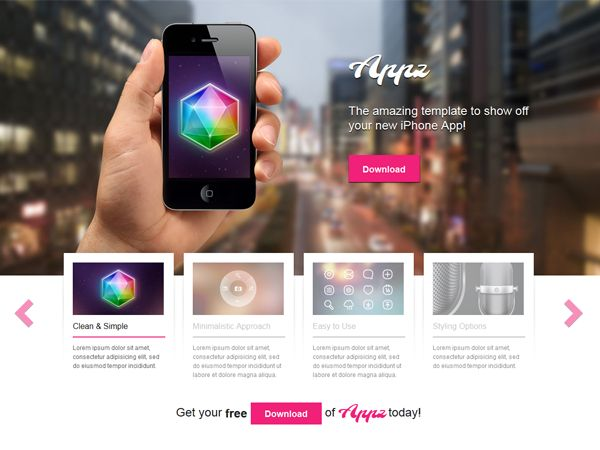 Appz is a free iPhone application template for WordPress + Appz WordPress theme is a simple, fast and effective way to approach the audience with your application. #wordpress #theme