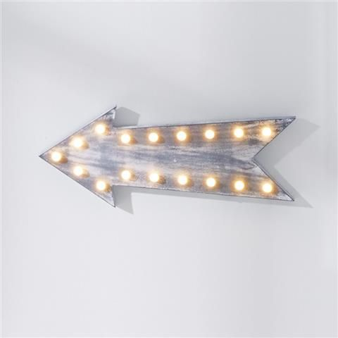Mood Board Monday {The Bandwagon} - Wall decor LED arrow - Kmart
