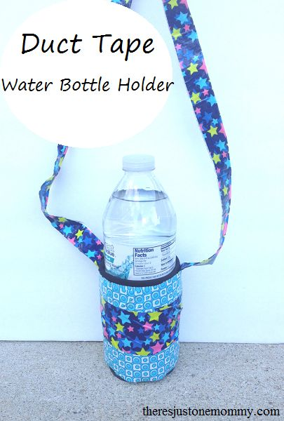 simple duct tape craft for kids:  make your own water bottle holder!