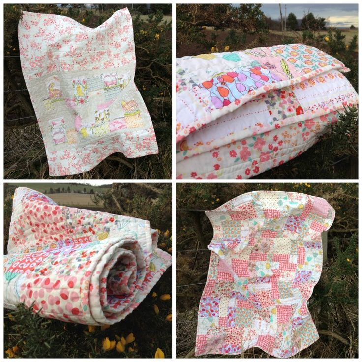 Summer Sunset commissioned patchwork baby quilt by Forest Poppy