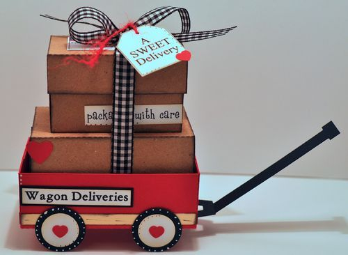 little red wagon...cute theme to wrap baby gifts