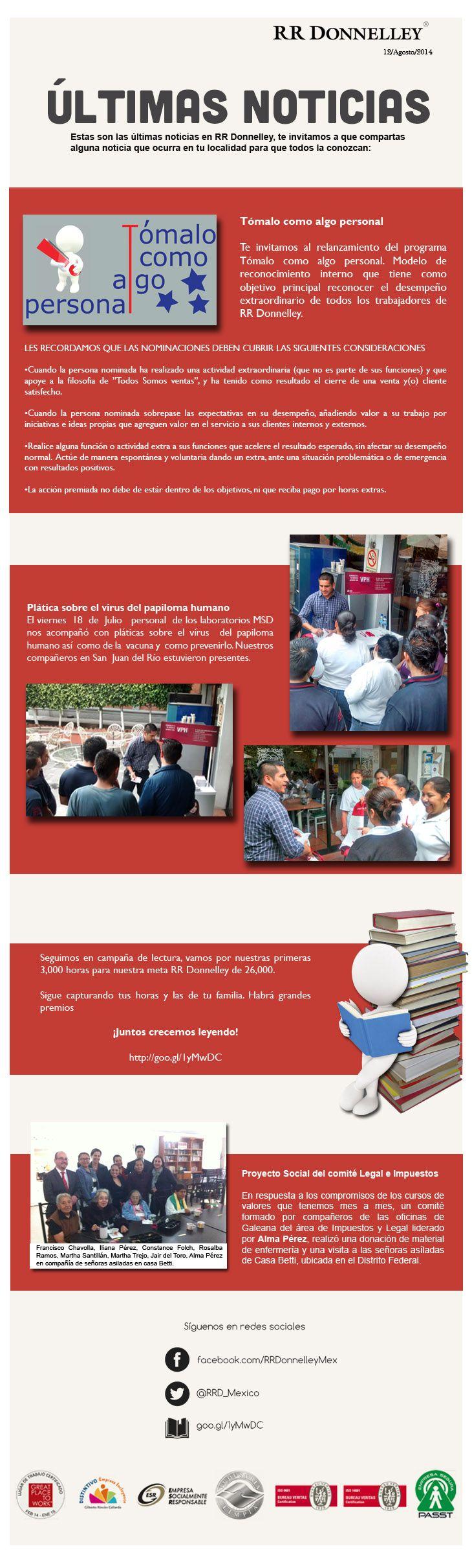 Últimas noticias RR Donnelley México Agosto 2014
