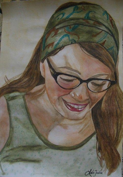 'Phenomenal woman' by Laila Iredias. This is a portrait of my beautiful canadian friend Keri-Lynn;
