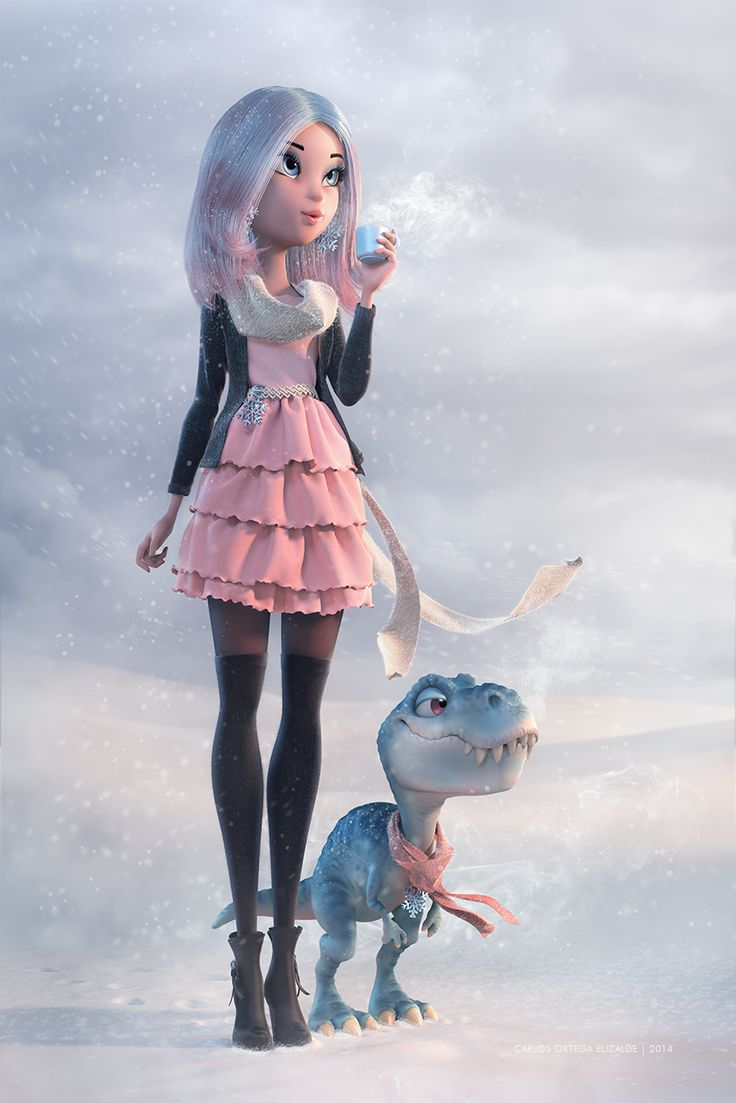 Girl Cartoon Inspirational Artwork – Last Break by Carlos Ortega Elizalde avcgi360 January 19, 2015 Featured, Inpirations  Amazing Piece of Art by Carlos Ortega Elizalde. I managed to took a last and small break to make a digital postcard, it was intended to be a quick 2D sketch but I felt it could work better in full 3D.