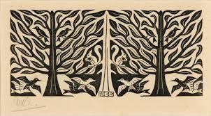Bilderesultat for Eschers Lizards - teknikk