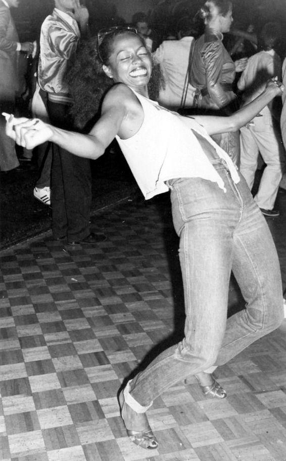 Diana Ross dancing at Studio 54, 1979