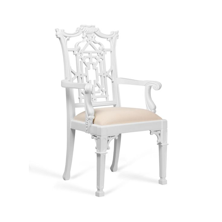 Chippendale Arm Chair White Bungalow 5 Chippendale Chairs