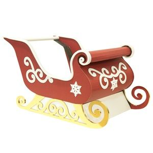Sleigh Ride Parade Float Kit - Make room for Santa with this whimsical Sleigh on your Christmas parade float.