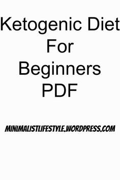 ketogenic diet plan for beginners PDF