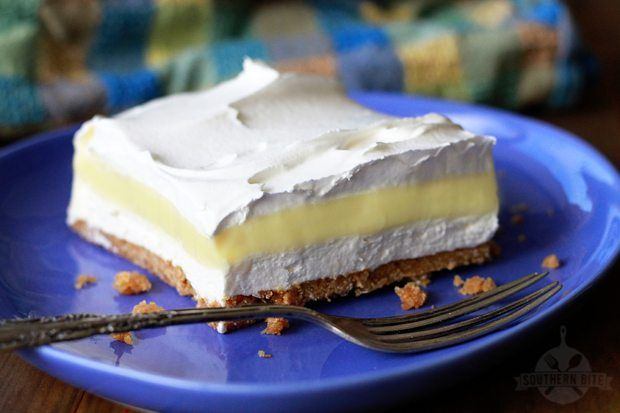 This lemon Icebox Delight has all the flavor of Lemon Icebox Pie in a delicious layer dessert. The crunchy, toffee-like crust is what makes it so good!