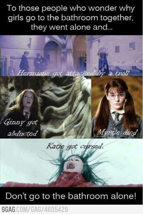 Crap... I Always go alone...: Laughing, Girls, Life Lessons, Bathroom Together, Bathroom Alone, Truths, So True, Harry Potter, True Stories