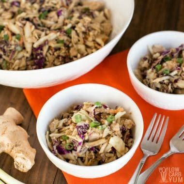 easy thai chicken salad with canned chicken