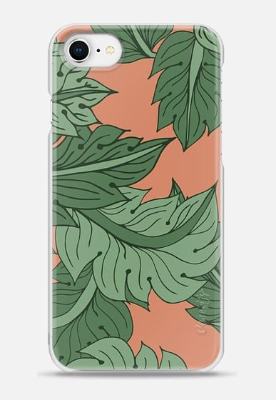 Old Rose Foliage pattern design by Patricia Sodré for Casetify.  #iphonecase #tropical #foliage #oldrose #leaves #iphone7 #casetify #patriciasodre