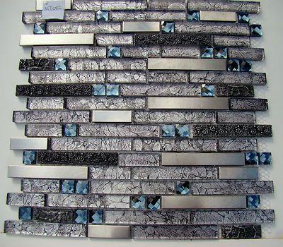 black diamond mosaic tile metal tiles black grey