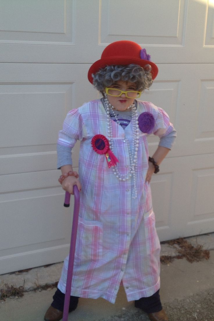 Dressed up GD as  Hundred Year Old Person for school to celebrated 100 days left of school year.